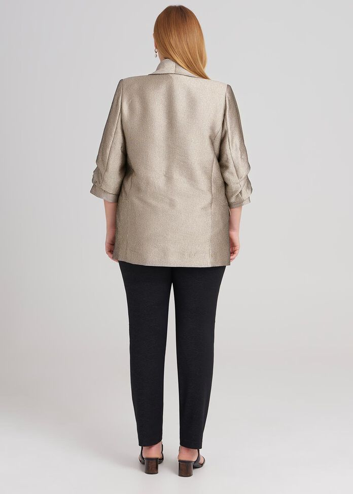 3/4 Sleeve Relaxed Jacket, , hi-res