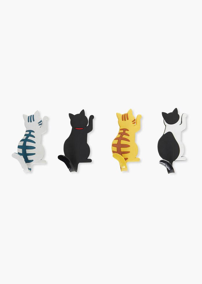 Set/4 Cat Magnets, , hi-res