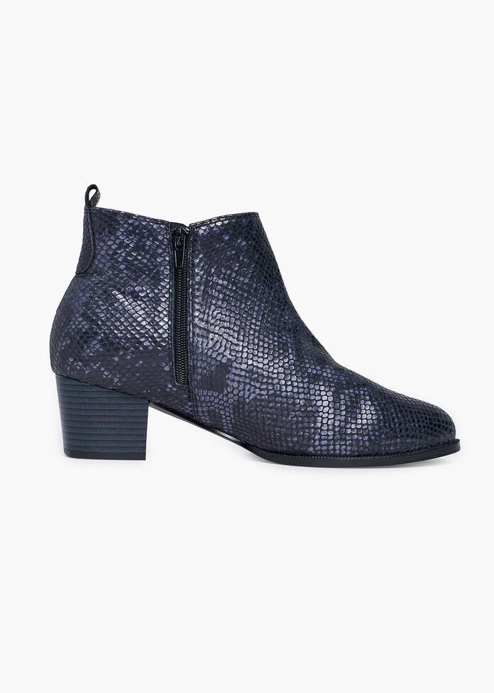Lila Leather Snake Boot, , hi-res