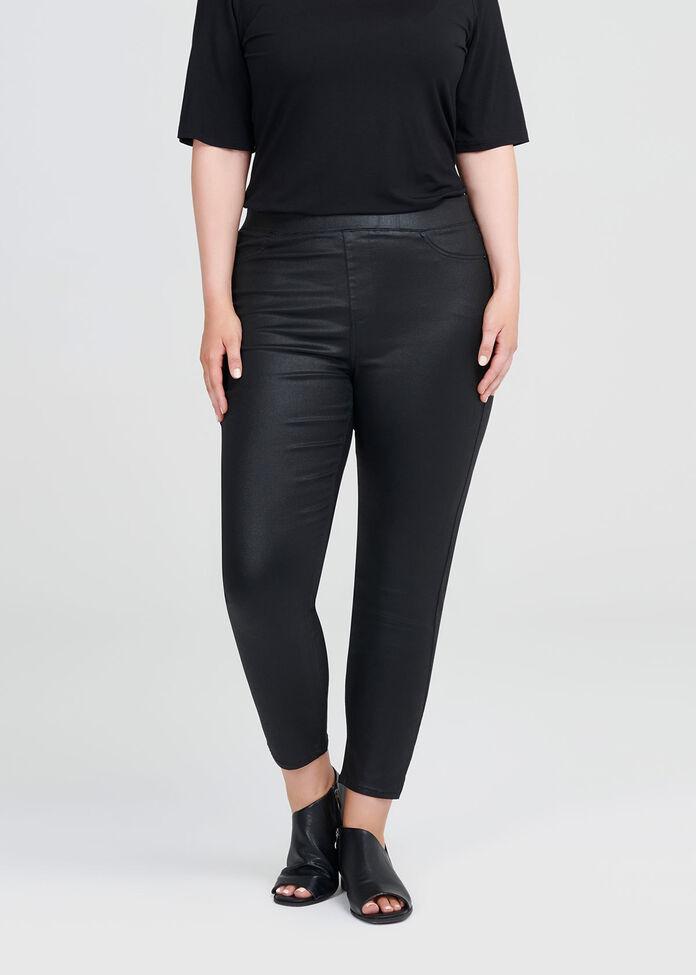 Coated Denim Luxe 7/8 Jean, , hi-res