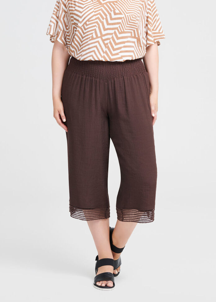 Escapade Lace Crop Pant, , hi-res