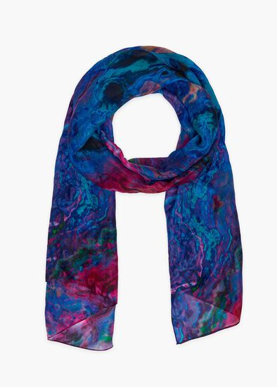 Electric Cosmos Silk Scarf