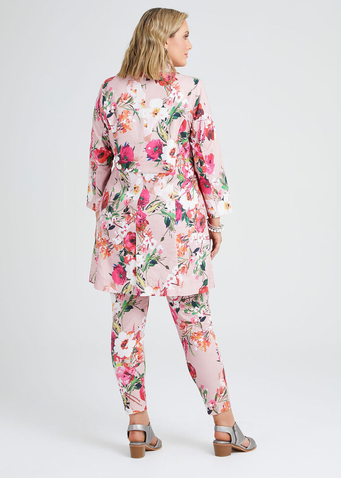 Pretty In Pink Linen Jacket, , hi-res