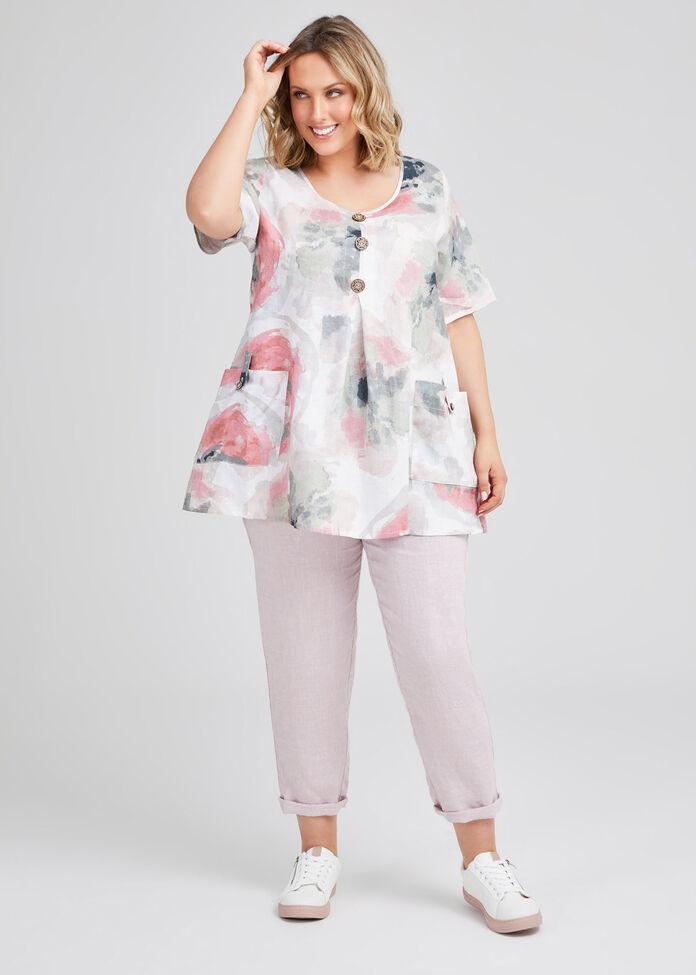 Misty Vibe Linen Pocket Tunic, , hi-res