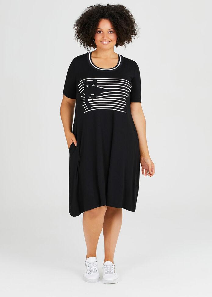 Natural Venetial Cat Dress, , hi-res
