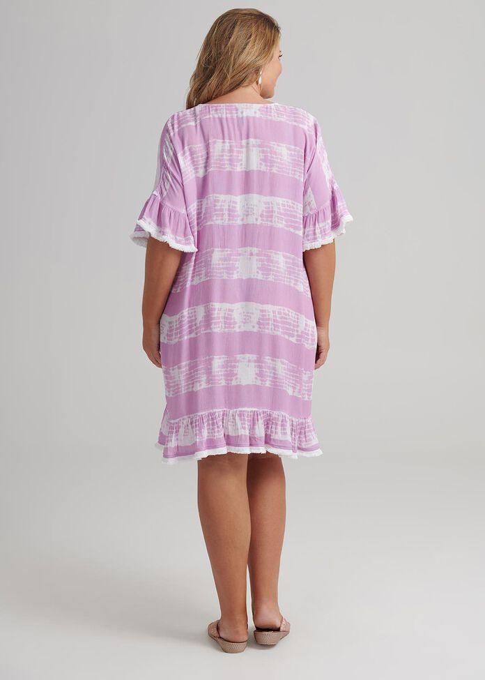 Tie Dye Coverup, , hi-res