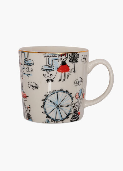 Cat On The Town Mug