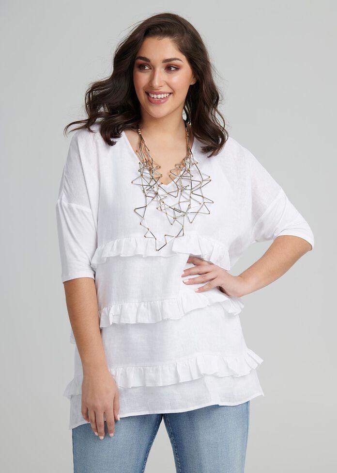 Linen Salma Tunic, , hi-res