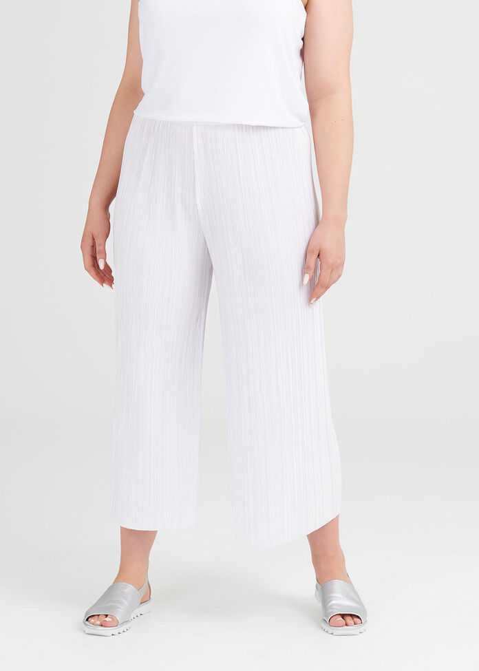 Pretty Pleat Crop Pant, , hi-res