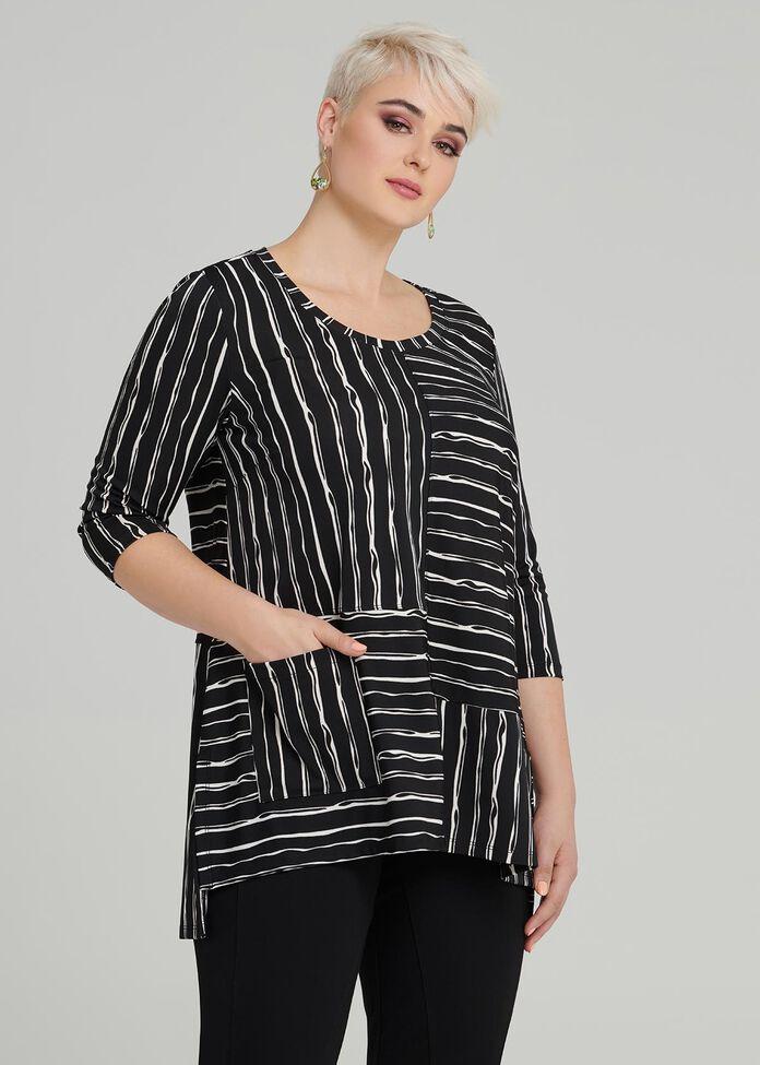 Chalk Stripe Top, , hi-res