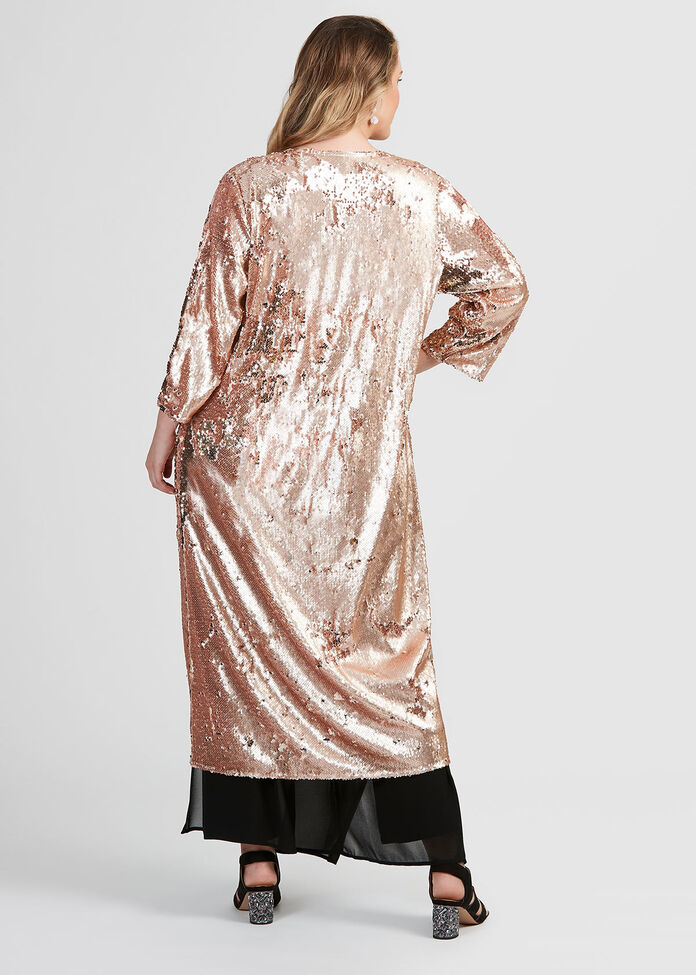 Look At Me Sequin Duster, , hi-res