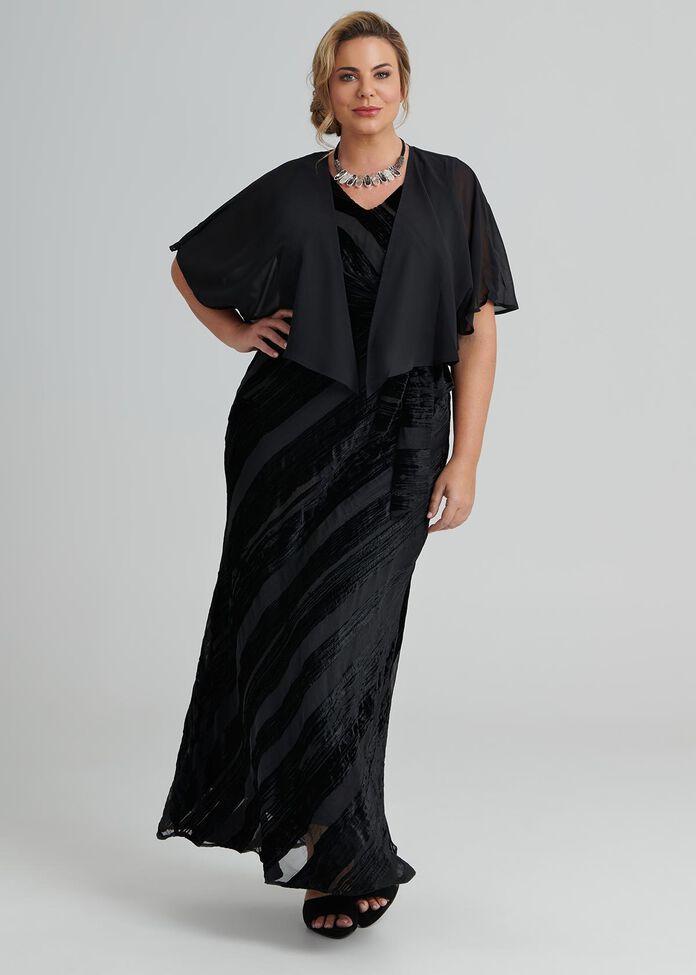 Glamour Velvet Maxi Dress, , hi-res