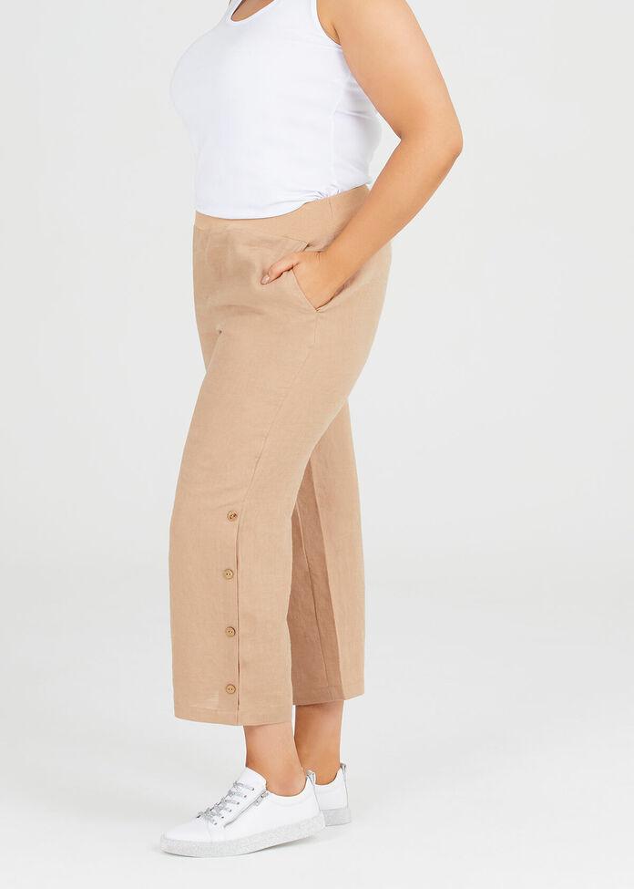 Drift Linen Crop Pant, , hi-res