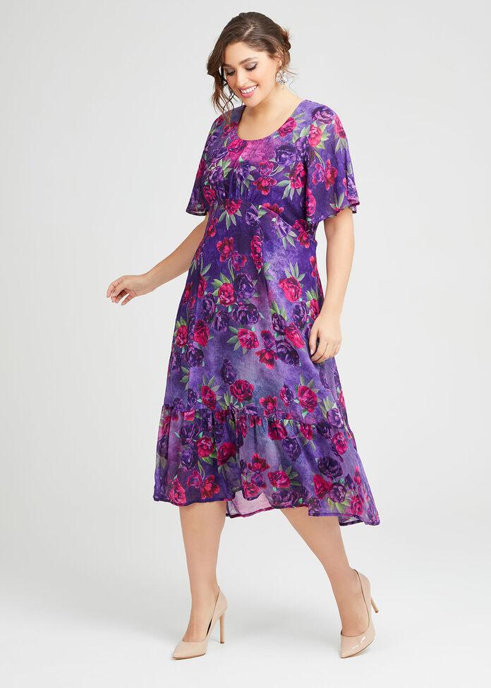 Royal Ascot Floral Maxi Dress, , hi-res