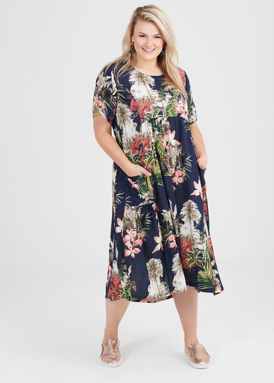 Natural Tropicana Dress