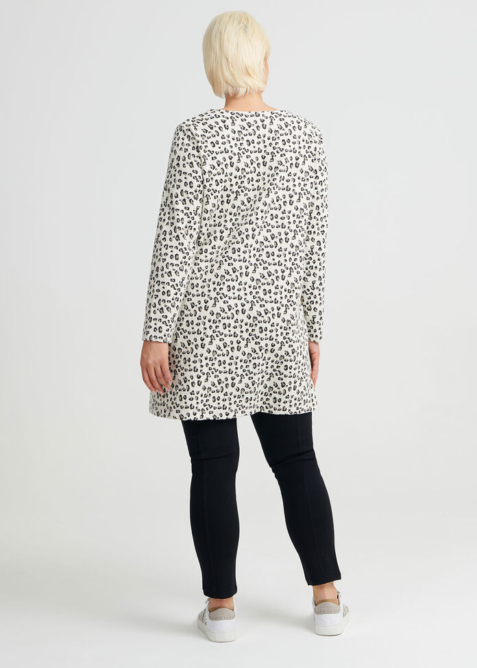 Leopard Jacquard Tunic, , hi-res
