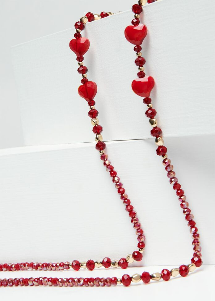 Red Heart Glasses Chain, , hi-res