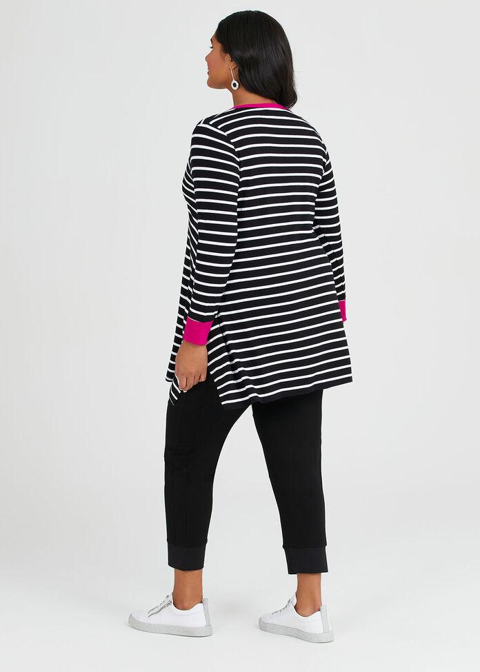 Viscose Effortless Stripe Top, , hi-res