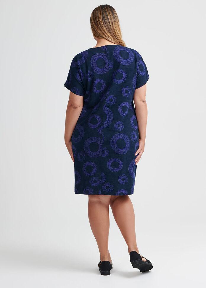Cotton Swirl Print Dress, , hi-res