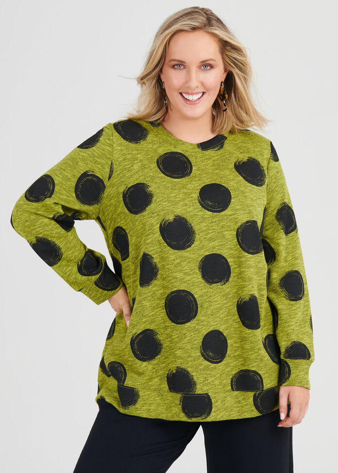 Cotton Textured Spot Sweat, , hi-res