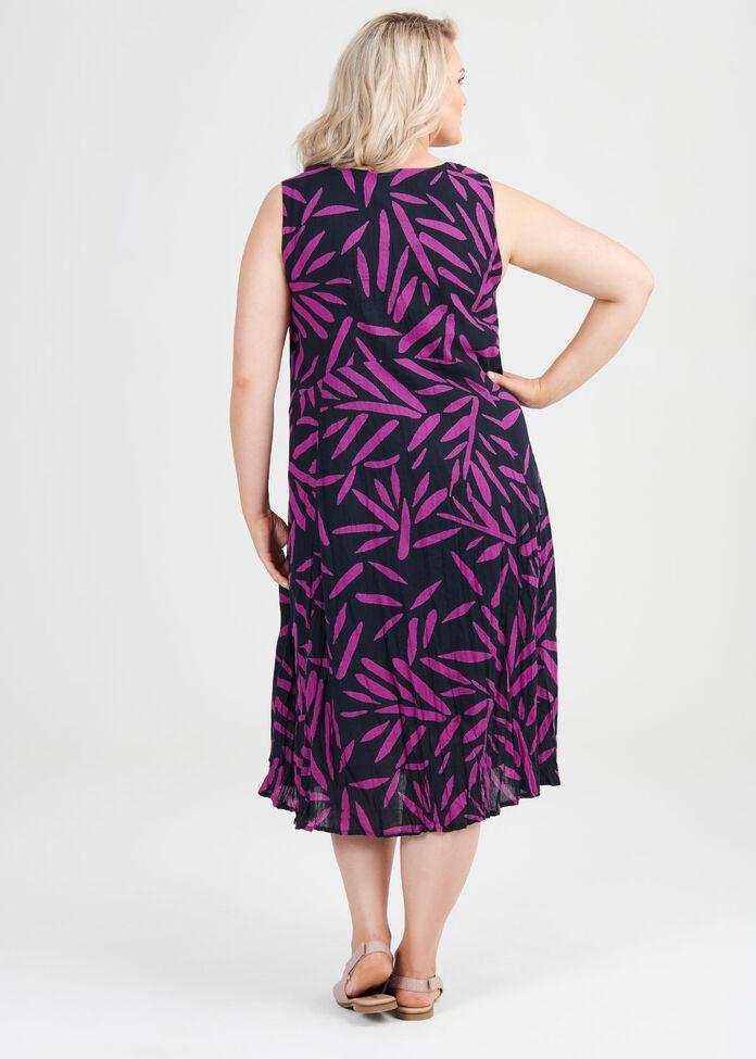 Cotton Leaf Dress, , hi-res