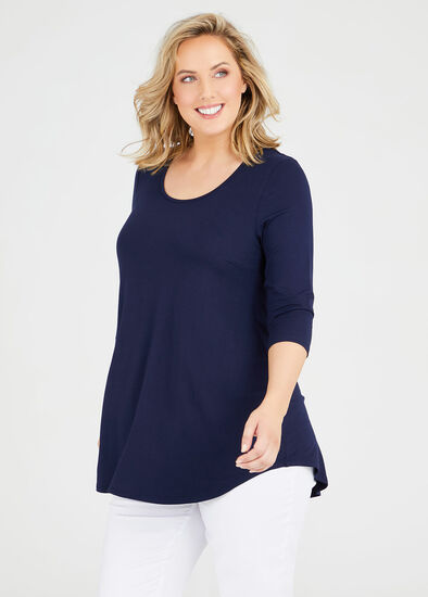 Bamboo Base 3/4 Sleeve Top