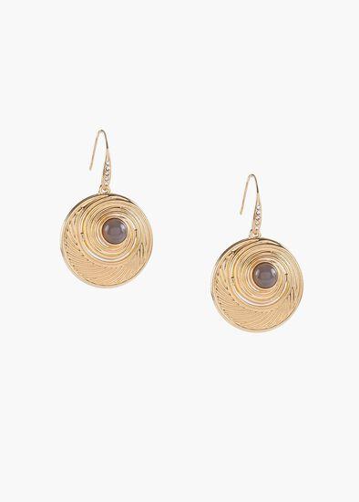 Swirl & Stone Earrings