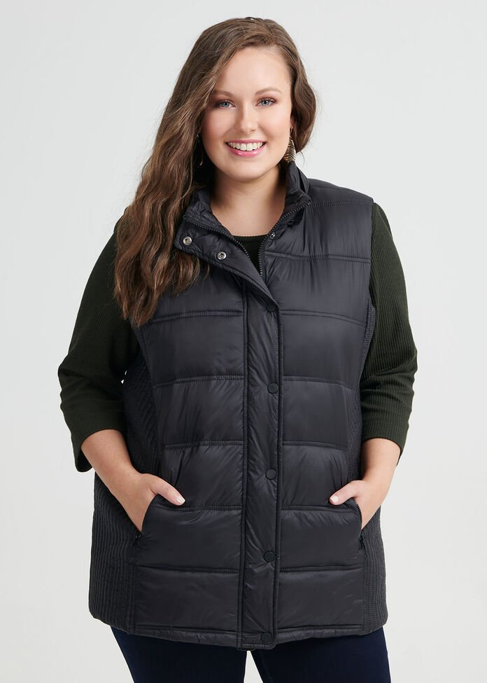 Time Traveller Puffer Vest, , hi-res