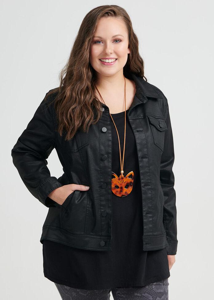 Coated Denim Luxe Jacket, , hi-res