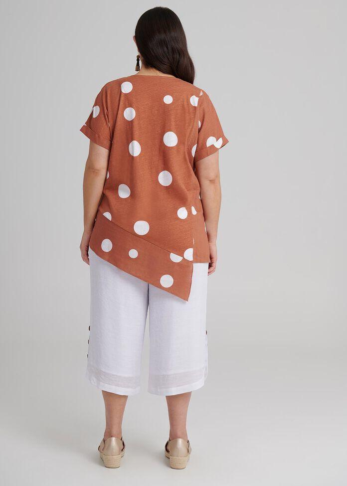 Spring Dot Linen Top, , hi-res