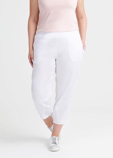 Latifa Linen Crop Pant