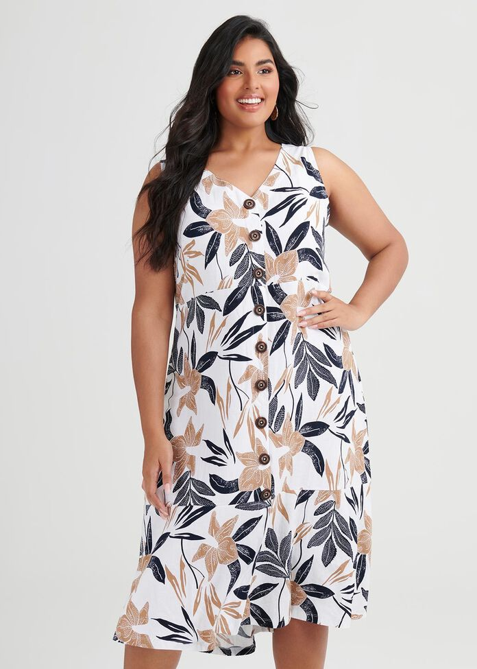 Linen Bamboo Desert Dress, , hi-res