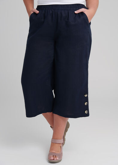 Linen Breeze Crop Pant