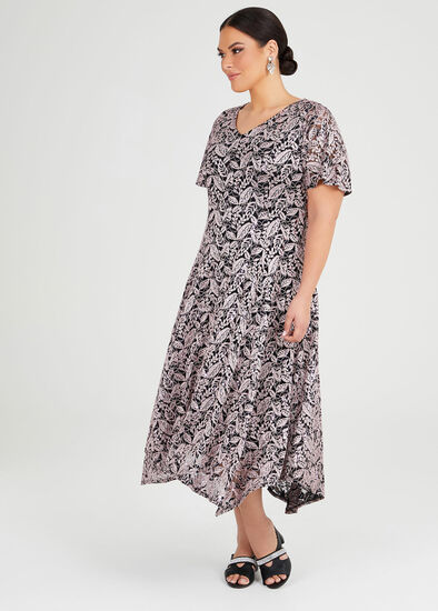 Sequin Lace Formal Dress