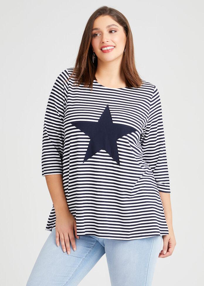 Bamboo Star Stripe Top, , hi-res