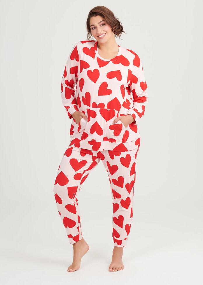 Bamboo Red Hearts Pant, , hi-res