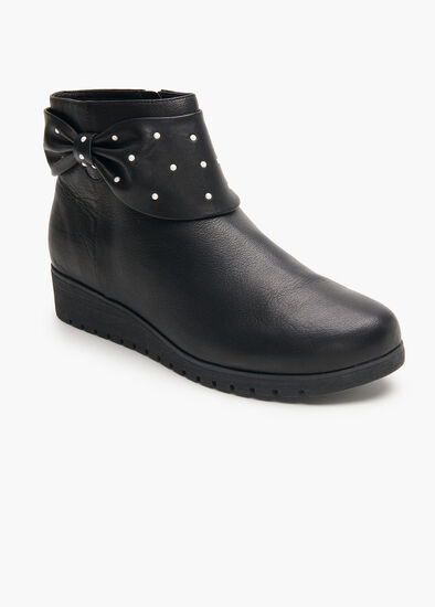Pearly Leather Boot