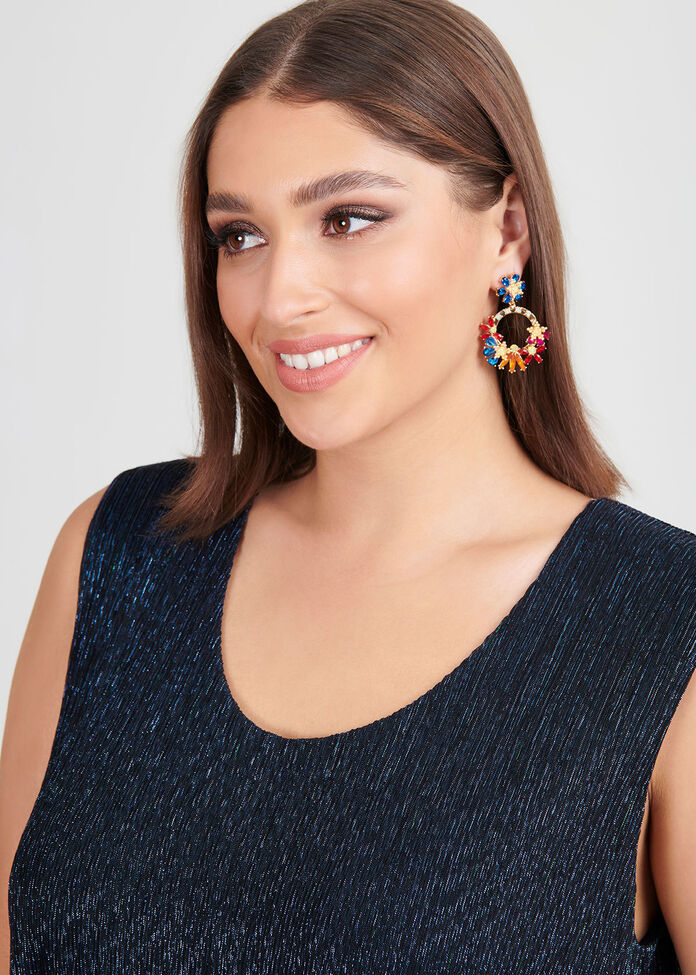 Round The Garden Earrings, , hi-res