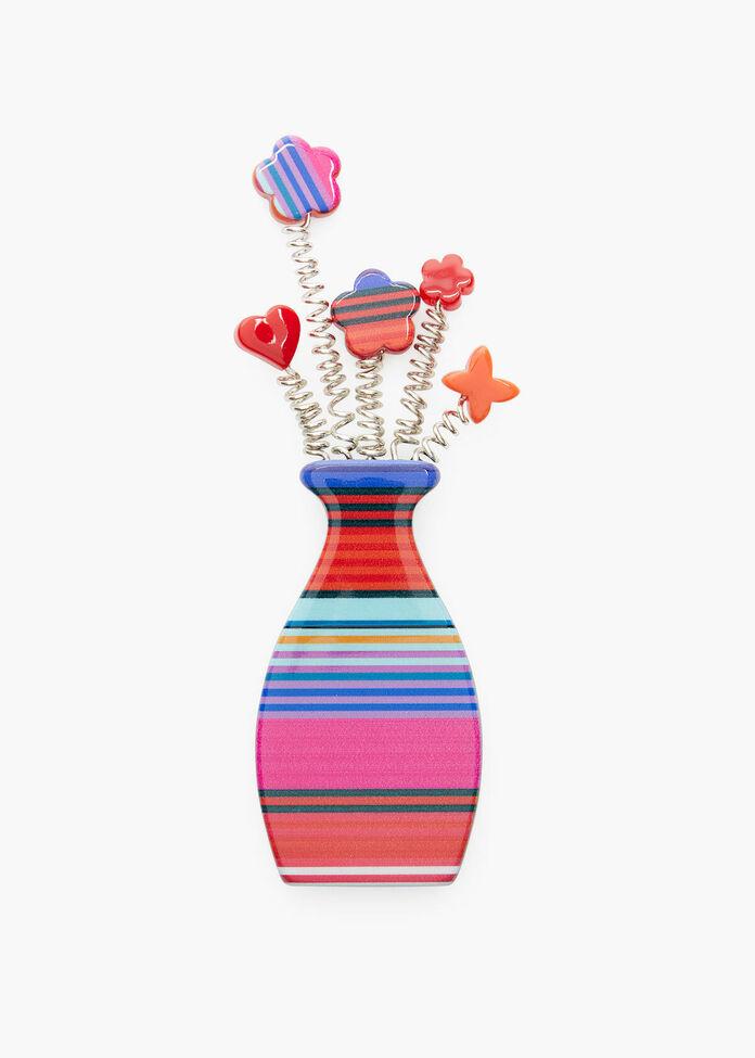 Stripe Vase Brooch, , hi-res