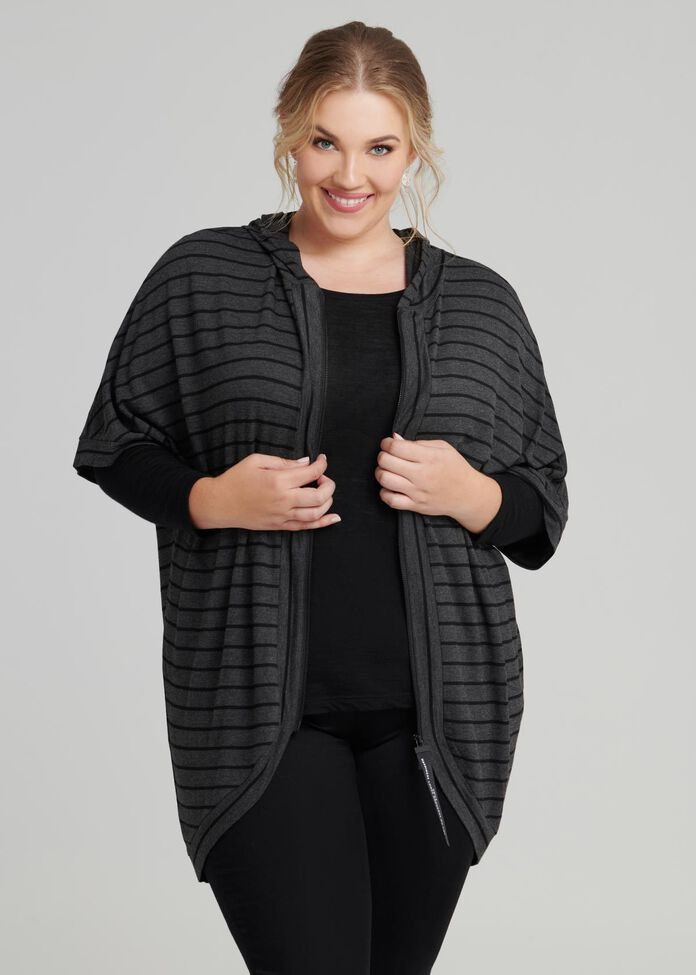 Cocooning Stripe Jacket, , hi-res