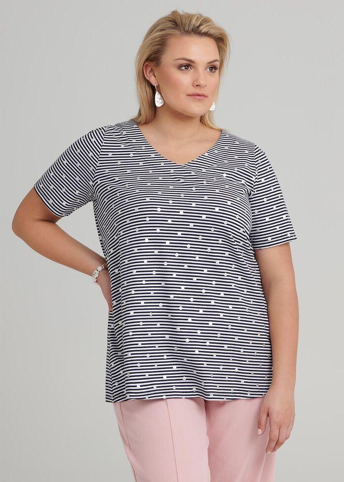 Mini Stripe And Spot Top, , hi-res