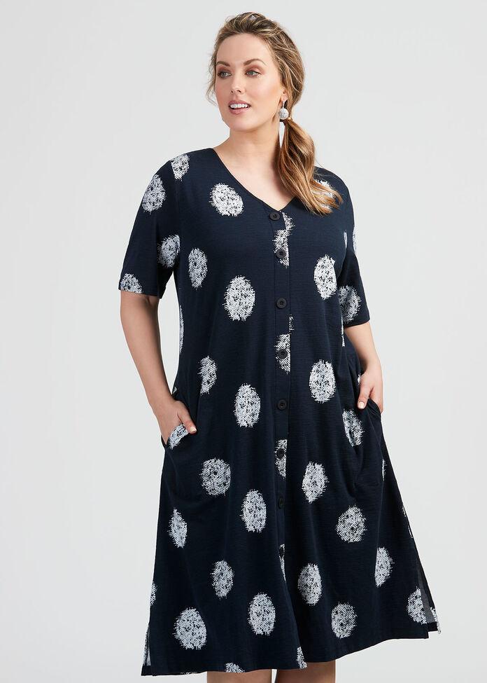 Cotton Ella Spot Dress, , hi-res