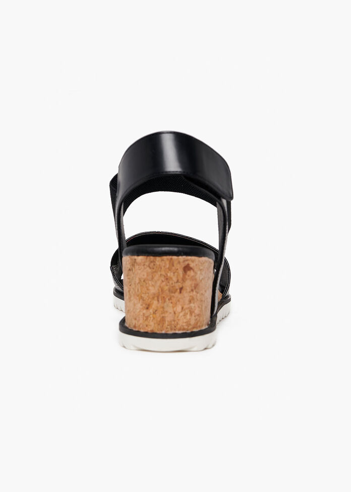 Coco Cork Detail Wedge, , hi-res