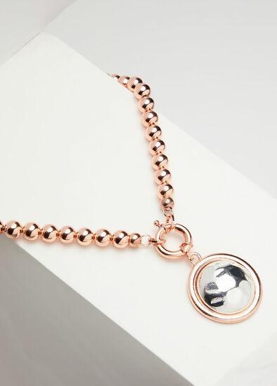 Short Rose Gold Pendant Necklace