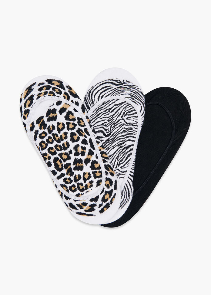 Set/3 Animal Print Socks, , hi-res