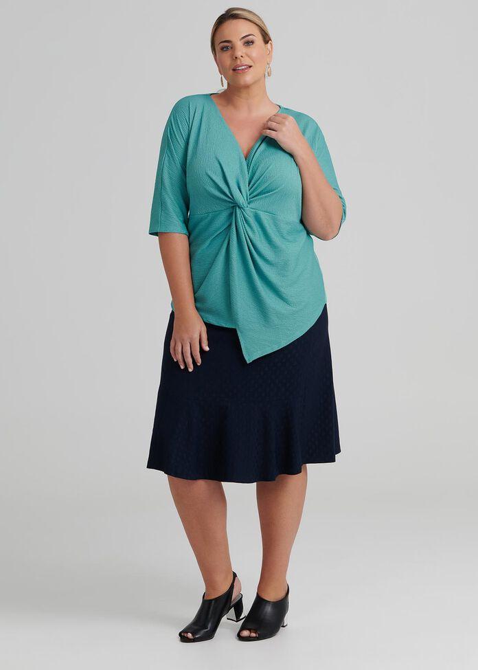 Tess Short Sleeve Knit Top, , hi-res