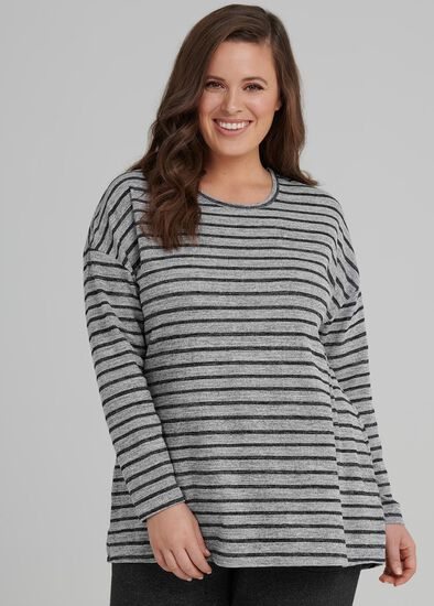 Stripe Luxe Lounge Top