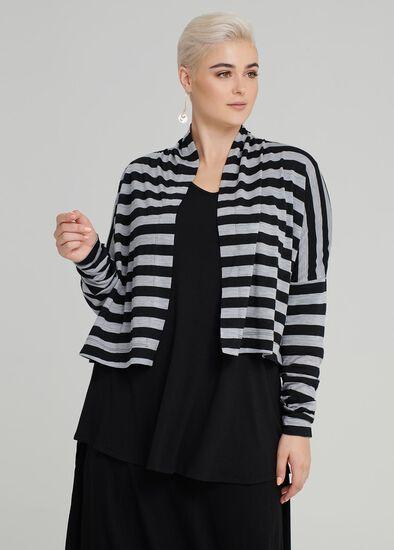 Cocoon Wool Stripe Cardi