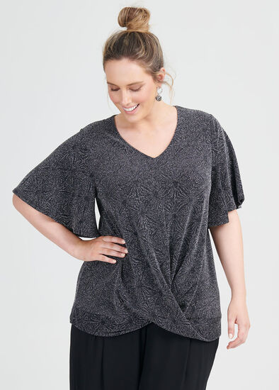 Sparkle Twist Front Top