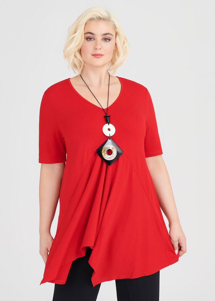 Marilyn Natural Short Sleeve Top, , hi-res